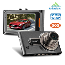 "Mini Car DVR with Ambarella A7LA50 chip Car DVR Video Recorder Full HD 2304*1296 30fps 2.7""LCD HDR+G-Sensor H.264 Dash Cams"