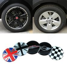 4pcs John Cooper Wheel Hub Sticker Center Cap Emblem Sticker for MINI COOPER S Countryman R55 R56 R57 R58 R59 R50 R52 R53 R60