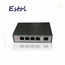 4-port PoE switch 4 +1 Port desktop Fast Ethernet Switch 5 RJ45 network switch power supply 48V input for ip camera ip phone AP