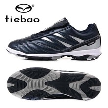 TIEBAO Brand Professional Soccer Football Shoes Men Women Outdoor TF Turf Soccer Cleats Athletic Trainers Sneakers Adults Boots(China)