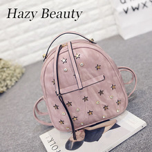 Hazy beauty New jewelry and star design women backpack super chic lady hand bags lovey chic stylish girl bling school bag DH570