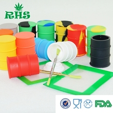 2017 Aliexpress 26ml silicone oil barrel container low price promotion silicone oil barrel drum container  from RHS factory