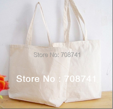TCS008,Free Shipping,100pcs/lot,34x37x9cm,Custom Nature Cotton Tote Bag,Reusable Cotton Shopper,Custom Size Logo Print Accept