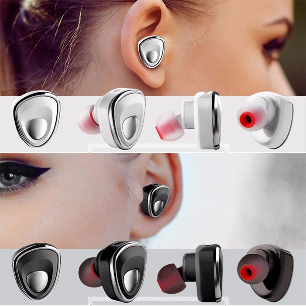 Lemado XIBICEN Mini Bluetooth 4.1 Headset Stereo Earphones Support One Match Two with 10m BT Distance high denifition microphone<br><br>Aliexpress