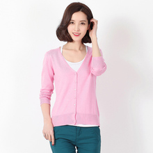 New Hand Knitted Cardigan Coats sweaters women fashion woolden sweater pure cashmere coat Free shipping Wholesale price S1(China)