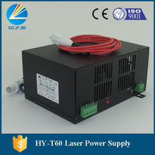 60watt laser power supply for co2 laser cutting equipment(China)