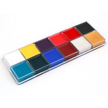 New Style Professional 1 Set 12 Colors Flash Tattoo Face Body Paint Oil Painting Art worldwide Sale Hot New(China)