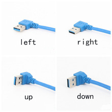 Bend USB3.0 male to female data charging extension line A male to A male right angled line