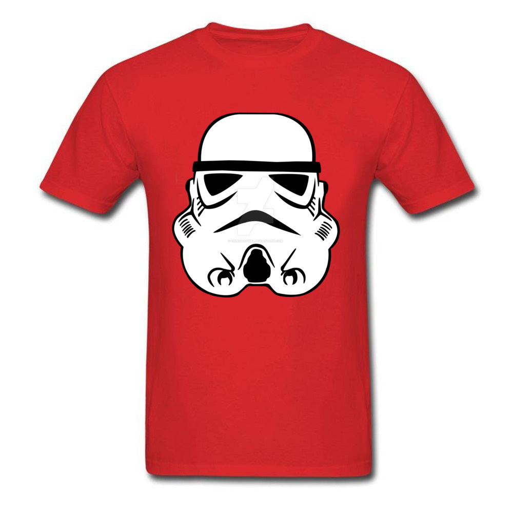Newest Stormtrooper 10 Short Sleeve T-Shirt Summer/Autumn Round Neck Pure Cotton Tops & Tees for Men Tops Shirt Simple Style Stormtrooper 10 red