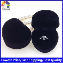 cajas para joyas jewelry organizer 24pcs/Lot 4.8x4.2x3.0cm Black Velvet Jewelry Packaging Wedding Ring Box(China)