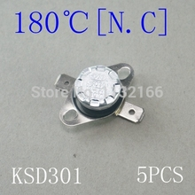 5PCS KSD301 180 degree Contact NC Button Temperature Switch Sensor Controller Thermostat