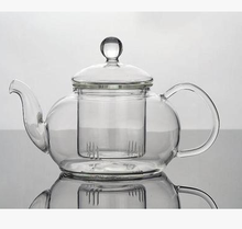 Free shipping 400ml glass tea pot, wholesale flower teapot, coffee pot with infuser
