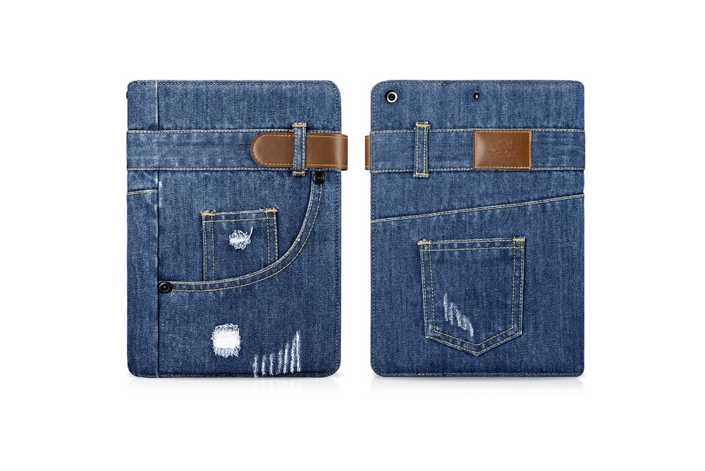 High Quality jean art Fashion design for iPad 9.7 2017 Case Cover tablets Protective stand Case for Model A1822 A1823 film gifts<br>