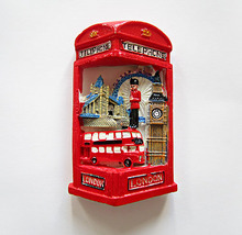 London, UK London World Tour to commemorate the three dimensional resin refrigerator magnet stickers gift