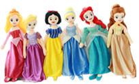 65cm Super Quality Snow White Belle Cinderella Aurora Rapunzel Ariel Soft Cute Adorable Stuff Plush Toy Girl Birthday Gift(China)