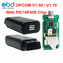 2017 OPCOM OP-COM V1.59 V1.70 OBD2 Diagnostic Scanner OP COM Hardware 1.59 1.70 Optional For Opel Cars With PIC18F458 FTDI Chip(China)
