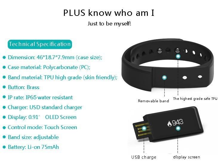 Original iwown I5 Plus Smart Bracelet Bluetooth Activity Wristband Fitness Sleep Tracker Reminder Passmeter Sports Watch 14