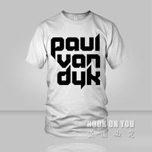 Free shipping DJ Paul van duk print t shirt music series women men casual tees tshirts