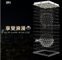holiday sales square pendant crystal chandelier modern lamp staircase lighting Dia600*h1800mm