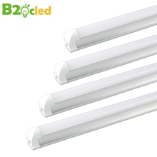 Super Bright LED Tube T8 Integrated Lamp 48LEDs SMD2835 600mm 9w 110V 220V 85-265v LED Light Cool/Warm White Lighthouse Indoor