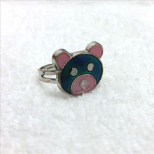 fashion mood ring cute bear changing color adjustable ring 100pcs/lot(China)