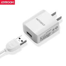 Buy Joyroom US Plug Cell Phone Travel Charger Cable 2A Fast USB Wall Charger Power Adapter iphone X Xiaomi Android Charger for $6.59 in AliExpress store