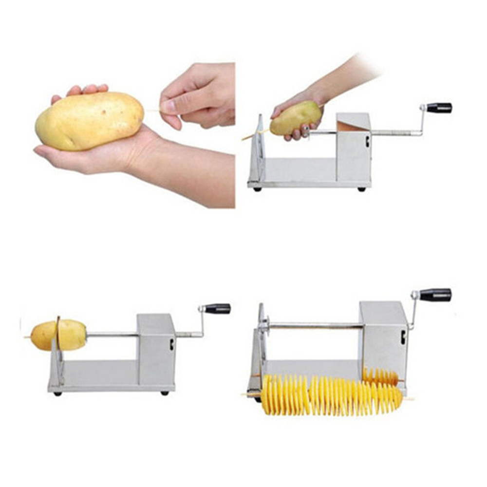 Hand Operation Portable Twister Tornado Spiral Potato Cutter Manufacture of Potato Spiral Cutter    ZF<br>