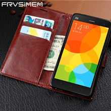 FRVSIMEM Leather Flip Stand Wallet Case Cover For Xiaomi Redmi 4 Pro 4A 4X Note 3 4X 4 Global Version Note4x Note4 Black Brown(China)