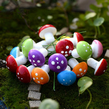wholesale Small Mushroom Cute Pots Micro Landscape Garden Decor Red Foam Mushrooms Potted Plant DIY Craft 50pcs