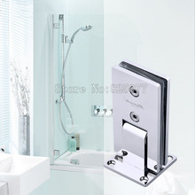 DHL 3PCS Shower room hinge rectangle 90 degree double stainless steel bathroom glass clamp(China)