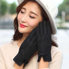 Womens Winter Fall Outdoor Warm Gloves Mittens gants Lady femme warm winter Fashion Full Finger luva Gray Coffee Pink Red Blue