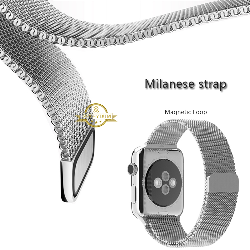 Milanese mesh stainless steel band Magnetic Loop for apple watch 38mm 42mm milan watchband wristwatch strap belt Smart bracelet<br><br>Aliexpress