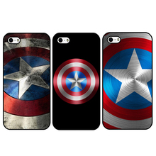 New Arrival Marvel Hero Captain America Hard Plastic Protective Back Case Cover For Apple iPhone 4 4S 5 5S SE 5C 6 6S 6 Plus 7