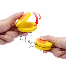 Kid Cartoon Wooden Castanet Toy Children Musical Percussion Instrument Xmas Gift(China)