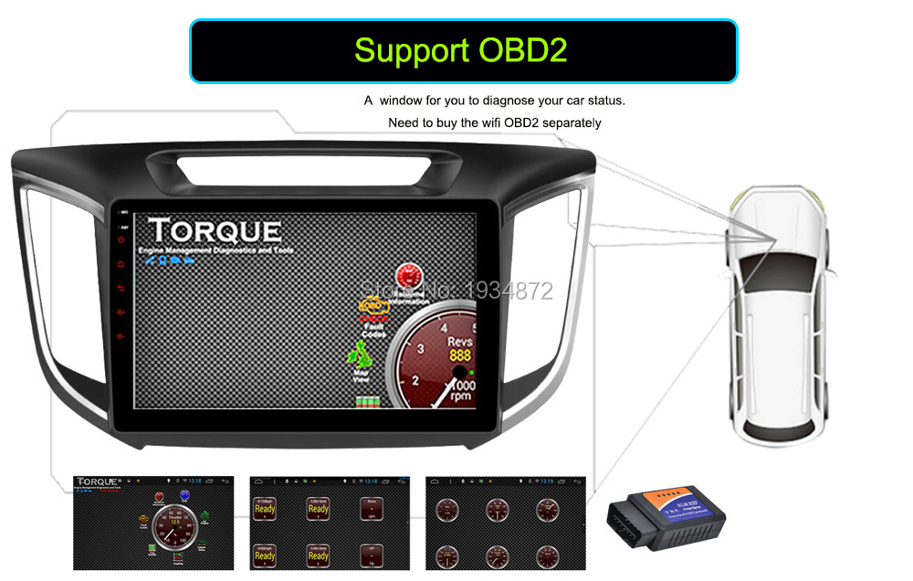 Android 6.0 CAR Audio DVD player FOR HYUNDAI ix25CRETA gps Multimedia head device unit receiver BT WIFI steering