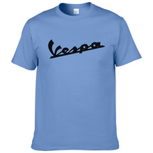 Vespa T Shirt Men 2017 Funny Vespa T-shirt 100% Cotton Summer Short Sleeve Round Neck Tees Male #194(China)