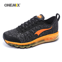 Onemix Hot sale Men air running shoes for women brand breathable walking sneakers athletic outdoor sports Training shoes 35-46(China)