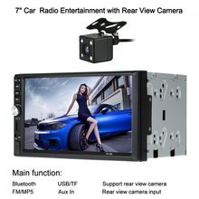 "Buy Autoradio Cassette Recorder Automagnitola 2 Din 7""inch Dash Touch Screen DVD Car MP5 Player Bluetooth Auto Radio Multimedia for $71.63 in AliExpress store"
