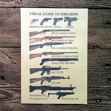 "New arrival about ""pistol and machine gun"" caudros decorativos painting vintage poster kraft paper for living room FW-021"