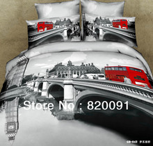 Brand-new London City Bedlinen Bridge Red Double-decker Buses Duvet Cover Bed Sheet Comforter Set Twin Full Queen King 4 or 5pc