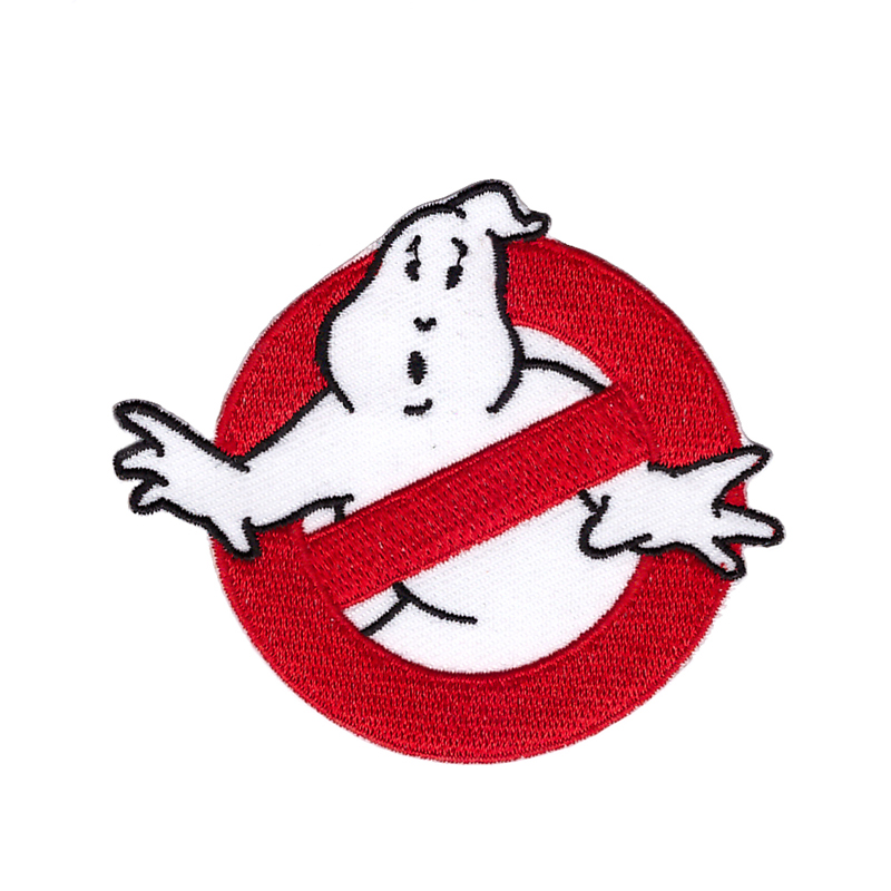 """Ghostbusters Patch Marshmallow Man Slimer Embroidered Iron On 4.88/"""" X 5.04/"""" LARG"""