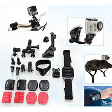 Bike Handlebar Mount Holder Go Pro Car Suction Cup Wifi Remote Wrist Strap for Gopro Hero 4 Sj4000 Xiaomi Yi Camera Accessories