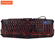 New Russian English Version Red/Purple/Blue Backlight LED Pro Gaming Keyboard M200 USB Wired Powered Full N-Key for LOL Dota 2