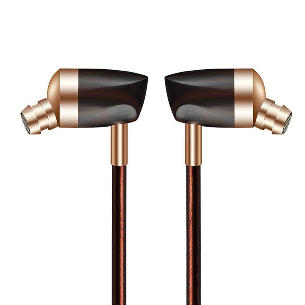 100% Original BOOSHIFI B3 1 Dynamic and 1 Armature 2 unit Wood Earbuds HIFI Ebony Gold In Ear Earphone DIY Wooden Earphone<br>