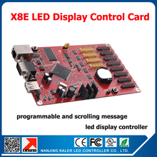 kaler China manufacturer full color led controller X8E ethernet+usb+serial input led display controller led sign control card(China)