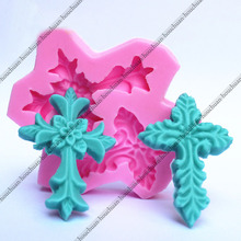3D Cross Christian/HC Necklace Silicone Molds Fondant Sugarcraft Soap Molds Candle Mould Cake Decorating Tools