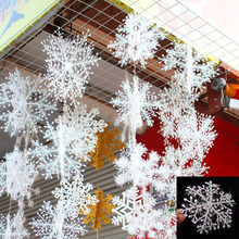 30Pcs Snowflake Christmas Decoration Christmas Tree Ornaments Holiday Festival Party Home Decor Decoration Navidad New Year Gift