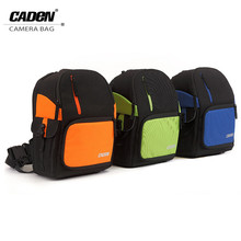 Caden D5 Camera Bags Single Shoulder Backpack Men Women Black Orange Green Blue Digital Camera Soft Bag For Canon Nikon DSLR
