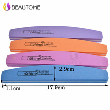 5pcs/lot Spong Sanding 100/180 Nail File Pumice Cuticle Remover Trimmer Washable Reuse Nail Buffer Saws Art Manicure Tools