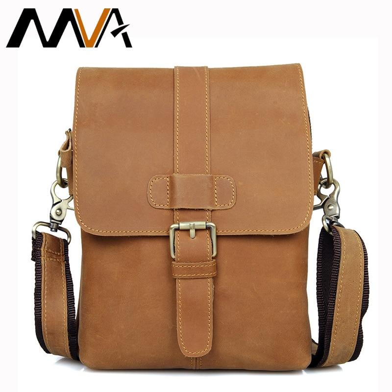 MVA Small Leather Shoulder Crossbody Bags Men Messenger Bags Genuine Leather Men Bag Zipper Small Mini Bag Flap Casual Handbag <br>